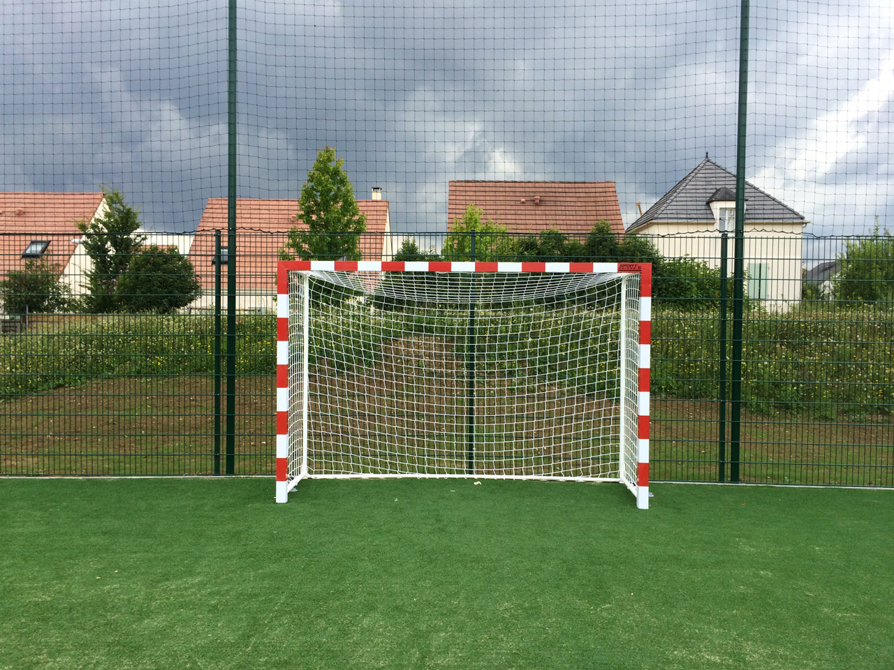 But Hand-Foot 3 x 2 m avec bandes rouges