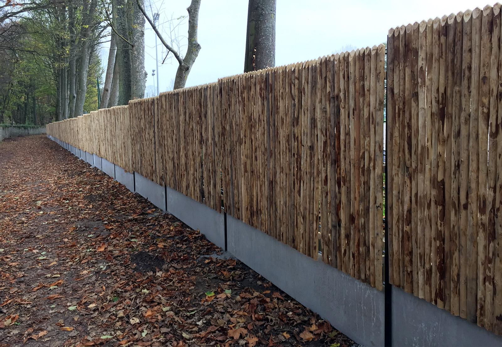 Montfort Lamaury 78 - Cloture rustique bois jointif sur structure metallique